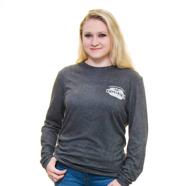 Ford's Fish Shack Long-Sleeve T-Shirt in Rich Gray