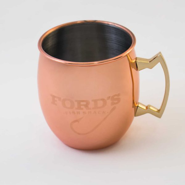 Front and Inside Lip of the Smooth Mule Copper Mug