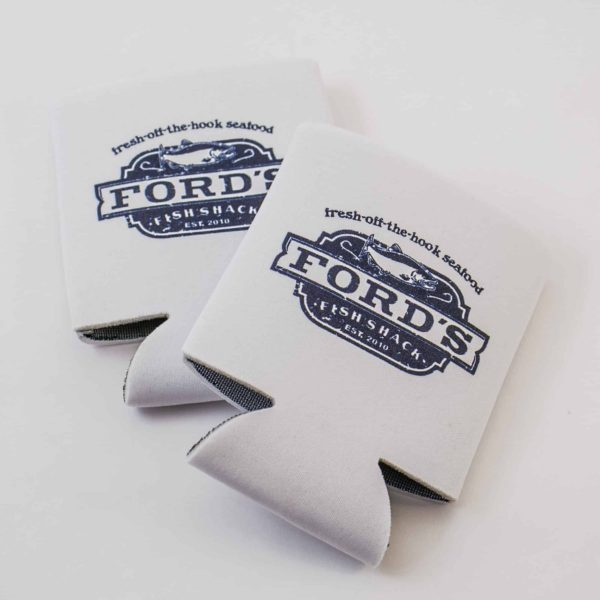 Ford's Fish Shack Drink Koozies Folded Flat