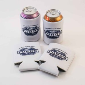 Ford's Fish Shack Drink Koozies with Drinks Inside