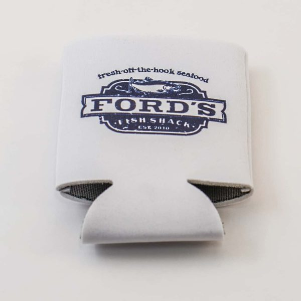 Ford's Fish Shack Drink Koozie Folded Flat