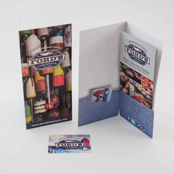 Ford's Fish Shack Physical Gift Card Envelope
