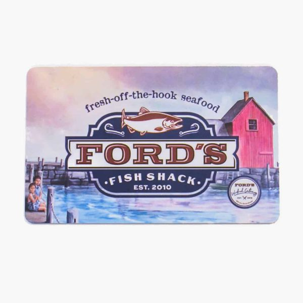 Front of Ford's Fish Shack Physical Gift Card
