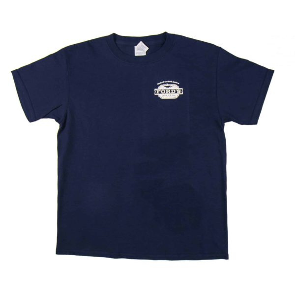 Back of Ford's Fish Shack T-Shirt in Aphotic Blue