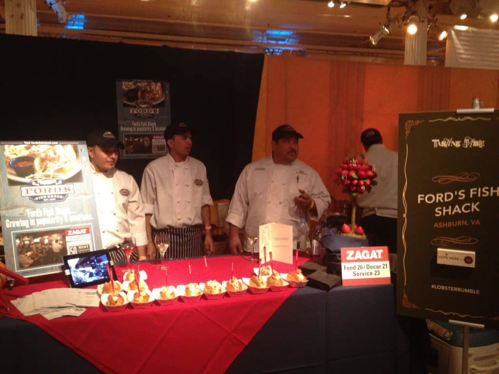 Ford's Fish Shack's booth at Lobster Roll Competition